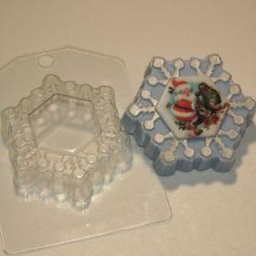 Форма для мыла Снежинка под водорастворимку
