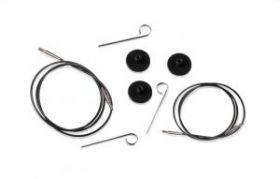 KNPR.10521 Knit Pro Тросик (заглушки 2шт, ключик) для съемных спиц, длина 35 (готовая длина спиц 60)
