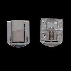 "Замок металл для шкатулки ""Стиль"" серебро (набор 2 шт) 2,3х2 см"