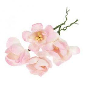 Декор для творчества, сакура нежно-розовая, d=3.5 см, набор 4 шт.